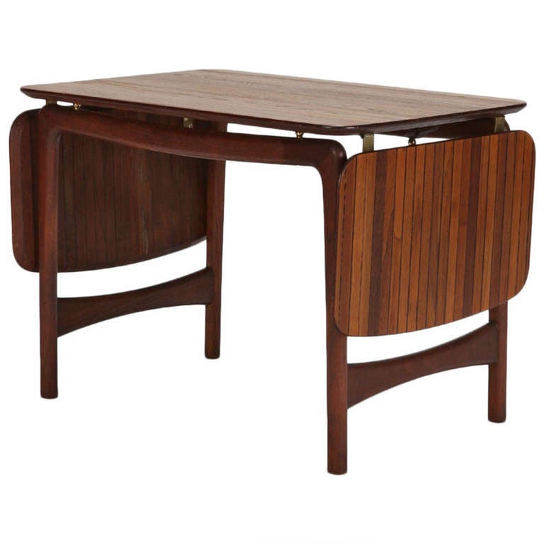 Danish Drop Leaf Coffee Table In Teak By Hvidt M Lgaard Nielsen 1950s For Sale At 1stdibs