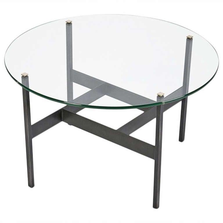 Italian Crystal Glass Coffee Table Attributed To Fontana