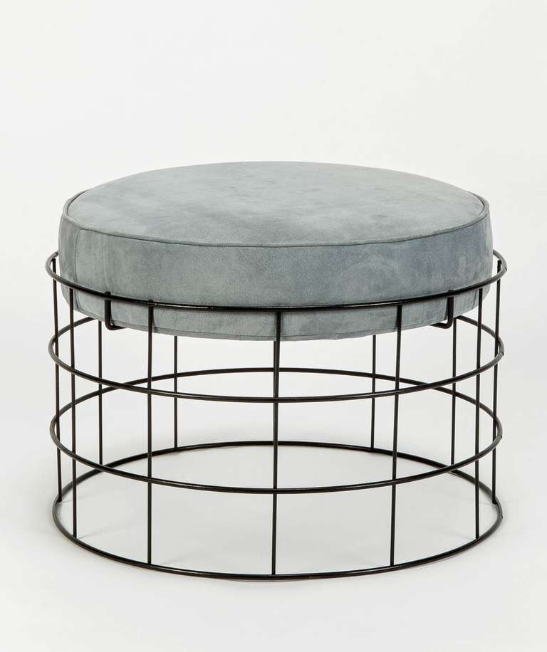 This stool T1 from the revolutionary wire frame collection by Verner Panton, made in 1961, Copenhagen, Denmark, produced by Plus Linje Copenhagen.