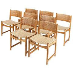 6 Hvidt & Mølgaard-Nielsen Oak Chairs Model no. 350