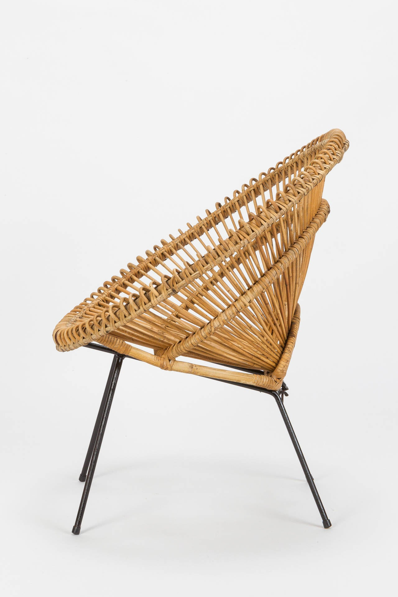 french wicker chair attributed to janine abraham and dirk jan rol