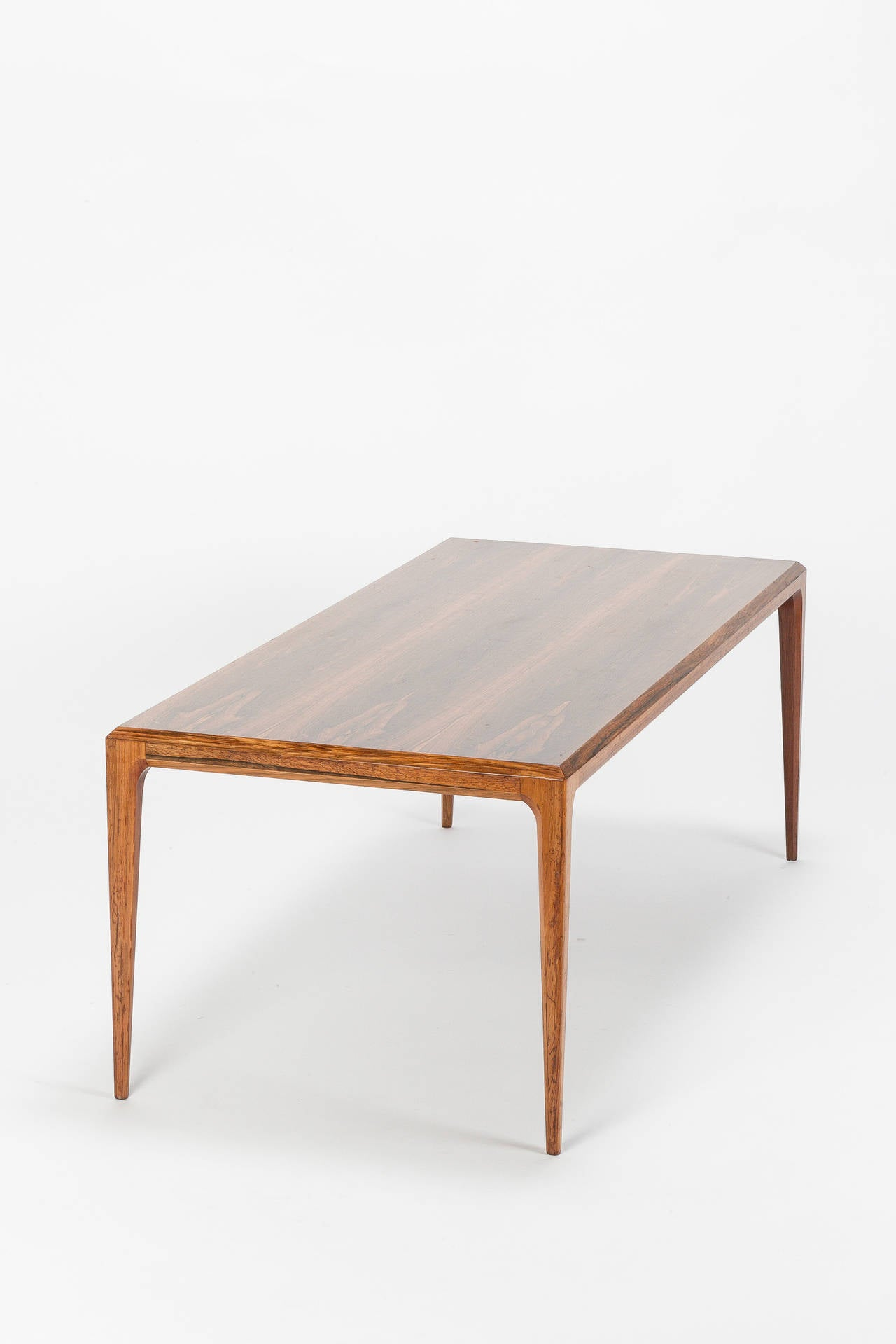 Mid-20th Century Danish Rosewood Coffee Table by Johannes Andersen Silkeborg, 1960s For Sale