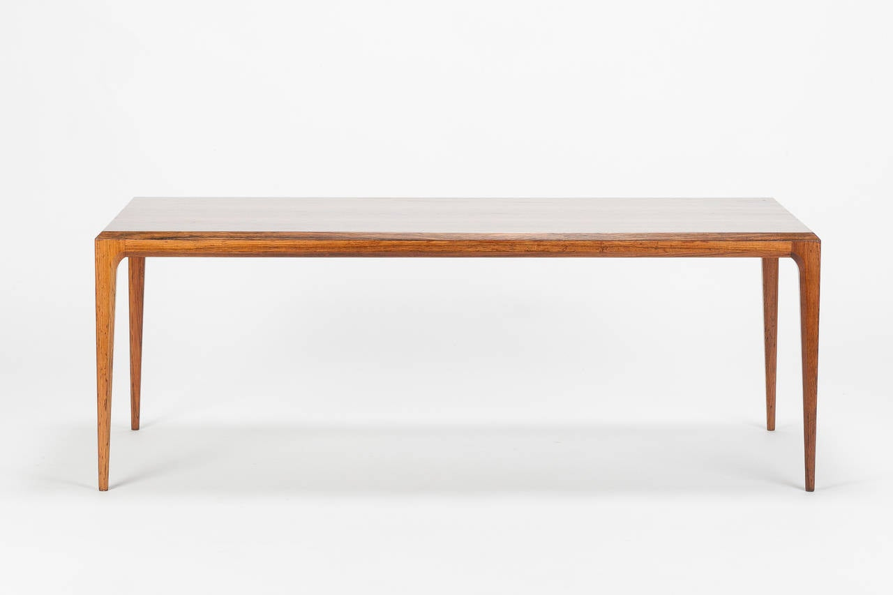 Mid-Century Modern Danish Rosewood Coffee Table by Johannes Andersen Silkeborg, 1960s For Sale