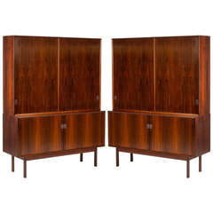 Two Rosewood Bookcases by Arne Vodder for Sibast