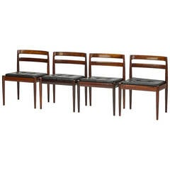 "Set of Four Rosewood Chairs ""Universe 301"" by Kai Kristiansen"