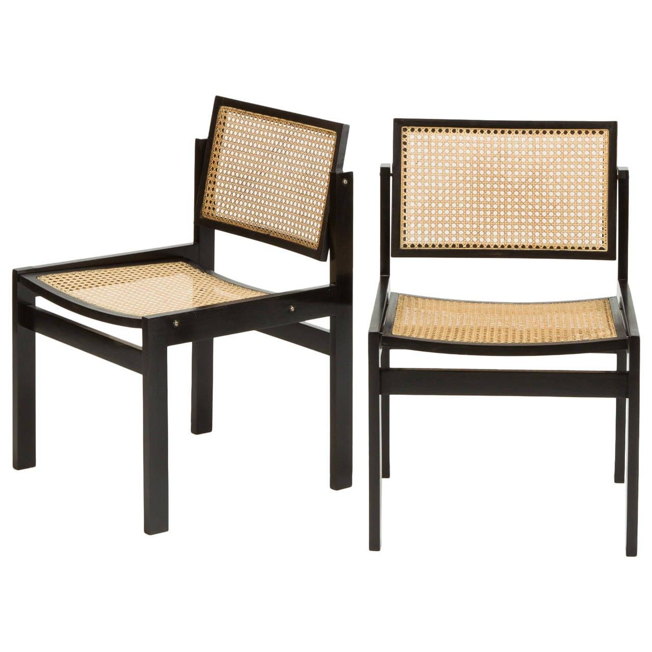Pair of Swiss Dining Chairs by Kurt Thut, 1950s