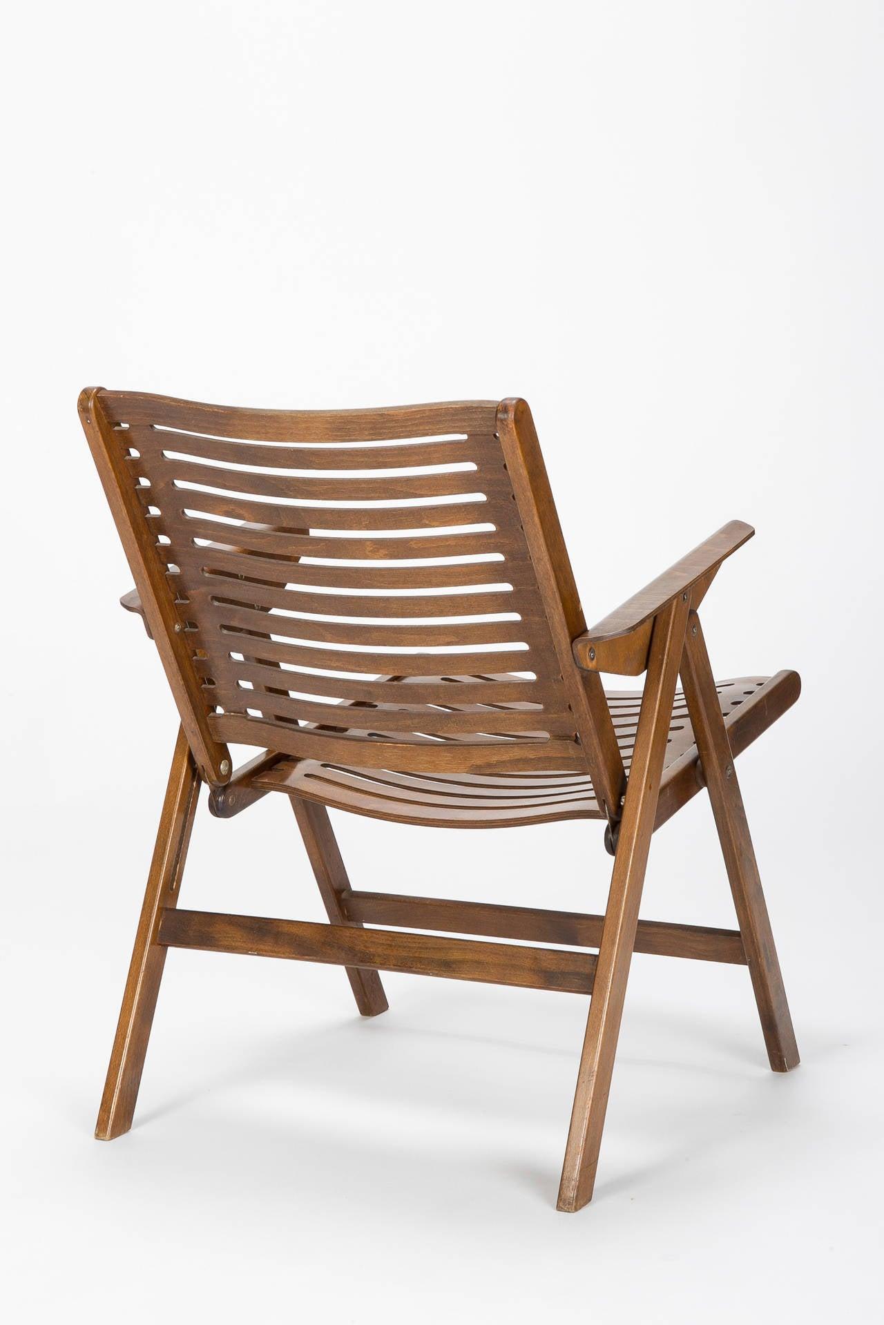 Slovenian Folding Chair Rex By Nico Kralj 1950s At 1stdibs