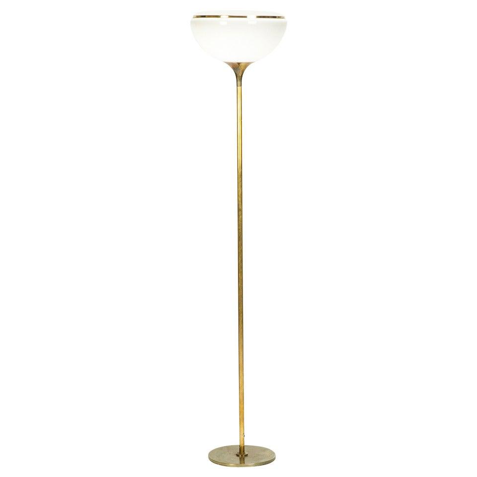 Italian Brass Tulip Floor Lamp By Reggiani 70s 1