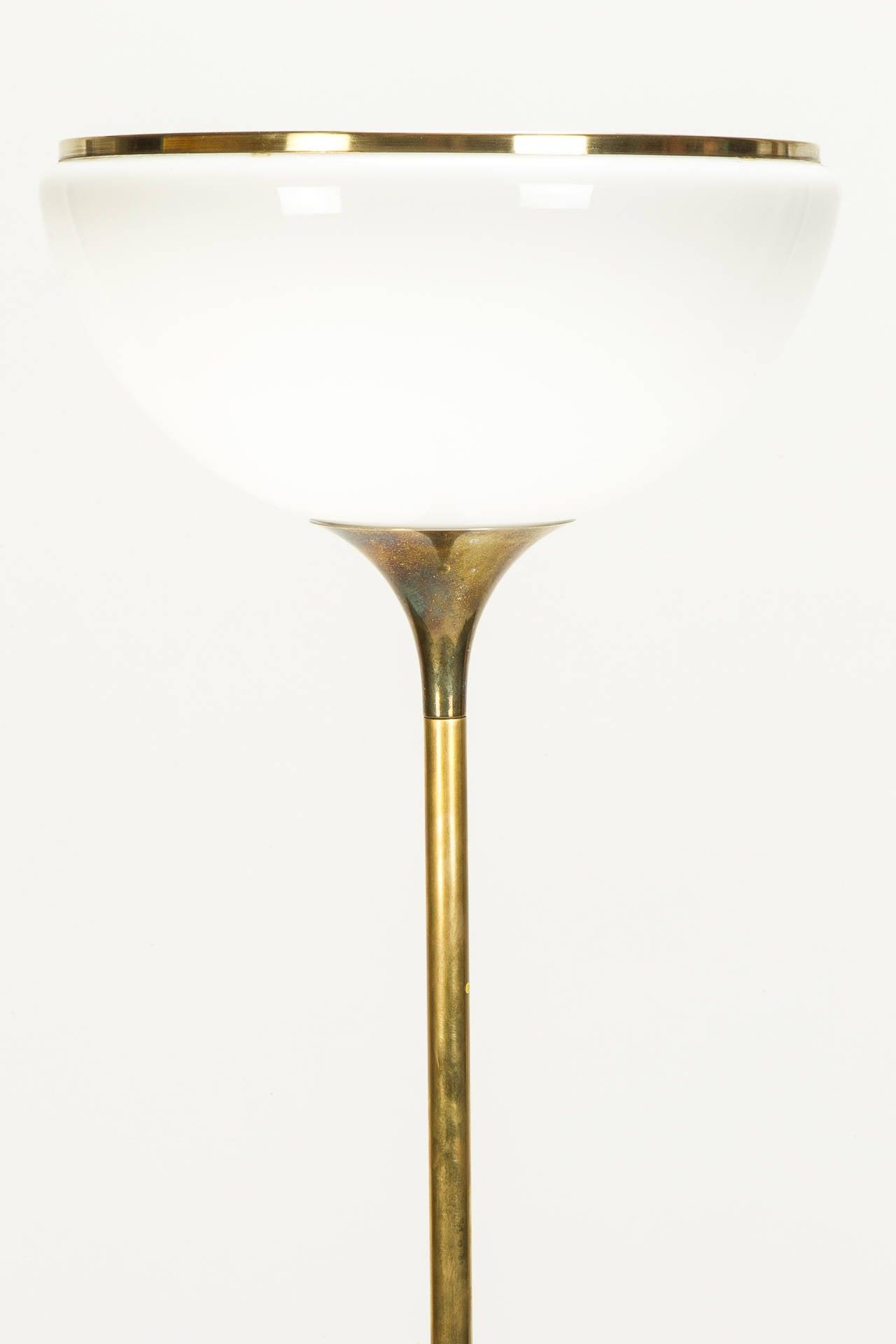 Italian Brass Tulip Floor Lamp By Reggiani 70s At 1stdibs