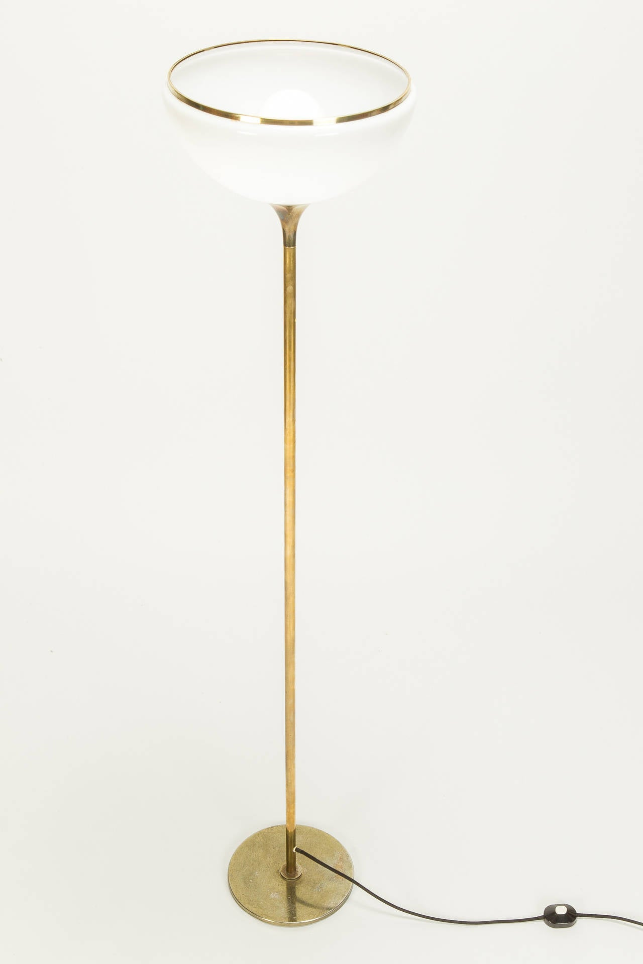 Italian Brass Tulip Floor Lamp By Reggiani 70s At 1stdibs