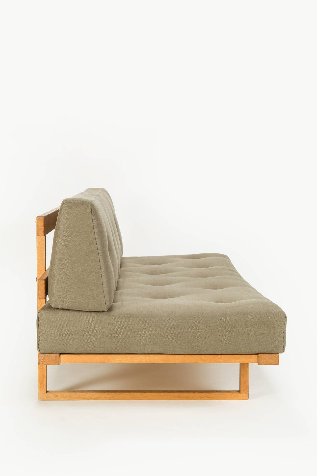 Danish Oak Sofa Daybed by Borge Mogensen for Fredericia