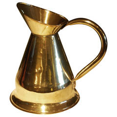 19th Century Brass Pitcher