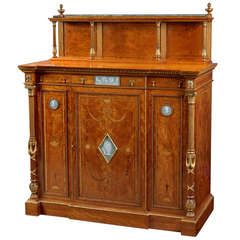 Superb Satinwood, Ormolu and Gilt Cabinet with Wedgwood Plaques