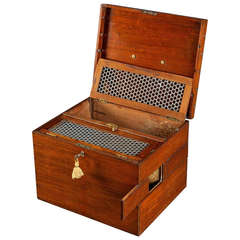 George III Mahogany and Brass Gamecocks Carrying Case
