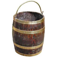 Brass Bound Oak Bucket