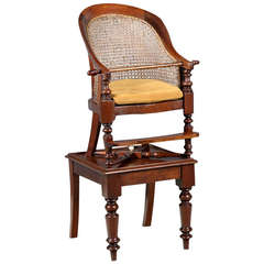 Child's Library Bergere High Chair on Table