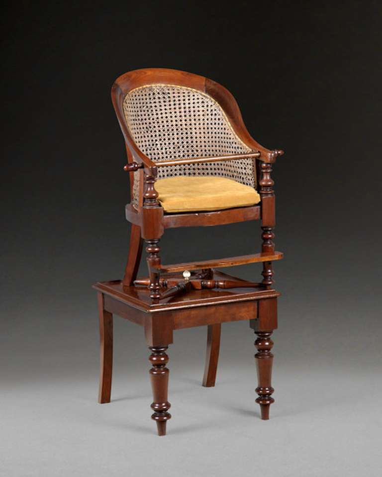 Child 39 s library bergere high chair on table for sale at for Table bergere