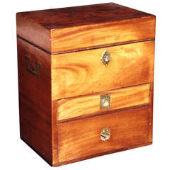 Regency Period Mahogany and Brass Fitted Apothecary's Box