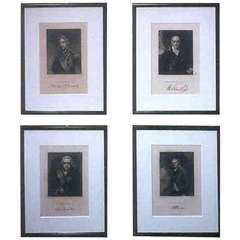 Early 19th Century Framed Engravings of Famous Historical Characters