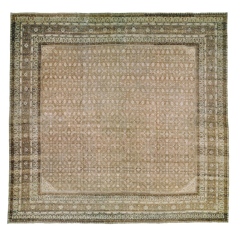 Early 20th Century Authentic Persian Tabriz Featuring Classic Herati Pattern At 1stdibs