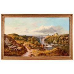 Oil on Canvas Landscape by Edmund John Niemann