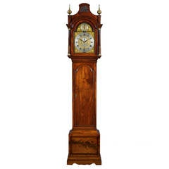 Chippendale Period Mahogany Longcase Clock