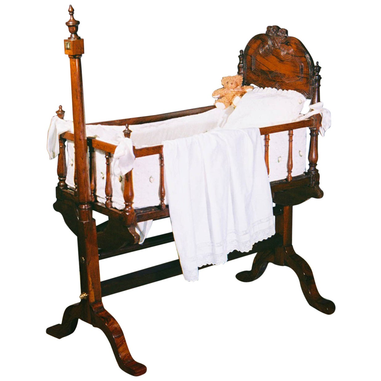 Regency Rosewood Cradle On Stand At 1stdibs