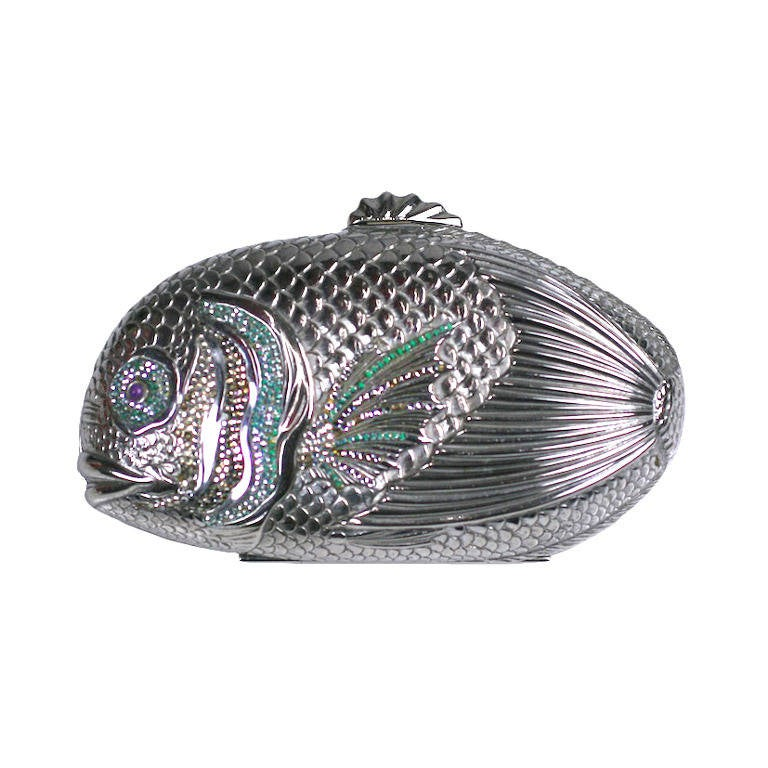 Judith Leiber Jeweled Fish Minaudiere 1
