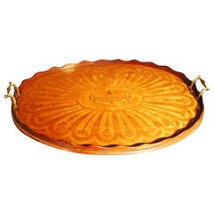 Victorian Oval Inlaid Tray