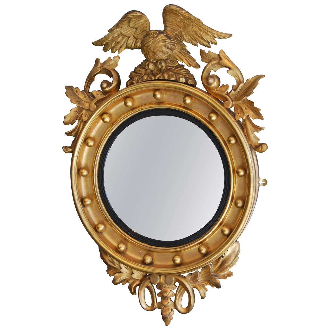 Regency convex gilt mirror at 1stdibs for Convex mirror