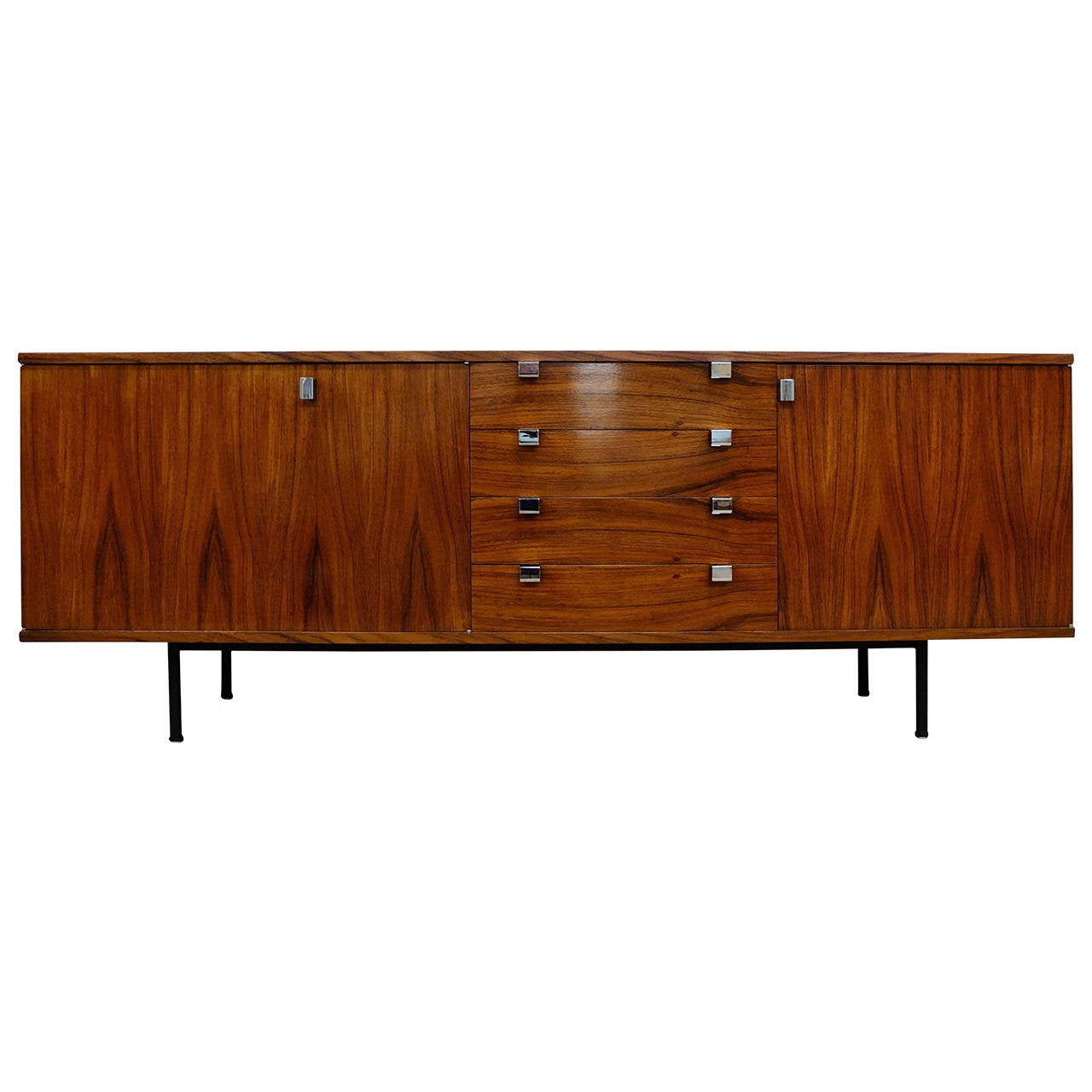 Alain richard palisander sideboard for meuble tv 1960 at for Meuble furniture
