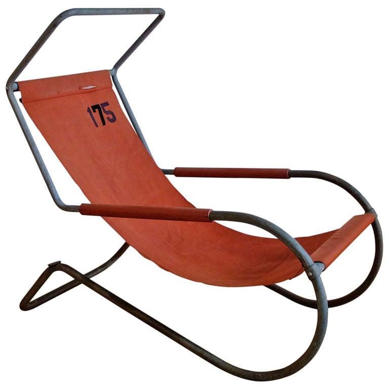 Guidici Rare Lido Liege Modulable Swiss Deckchair At 1stdibs