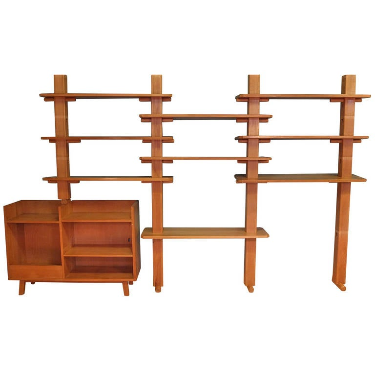 1970s Wood Furniture ~ S swiss wood bookshelves at stdibs