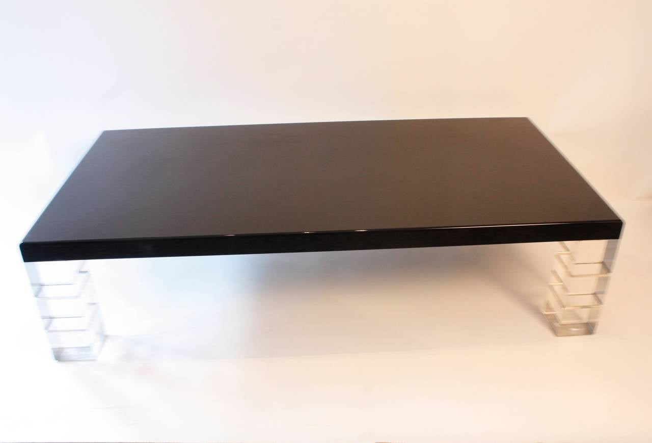 1970s Neoclassic Lucite Coffee Table At 1stdibs