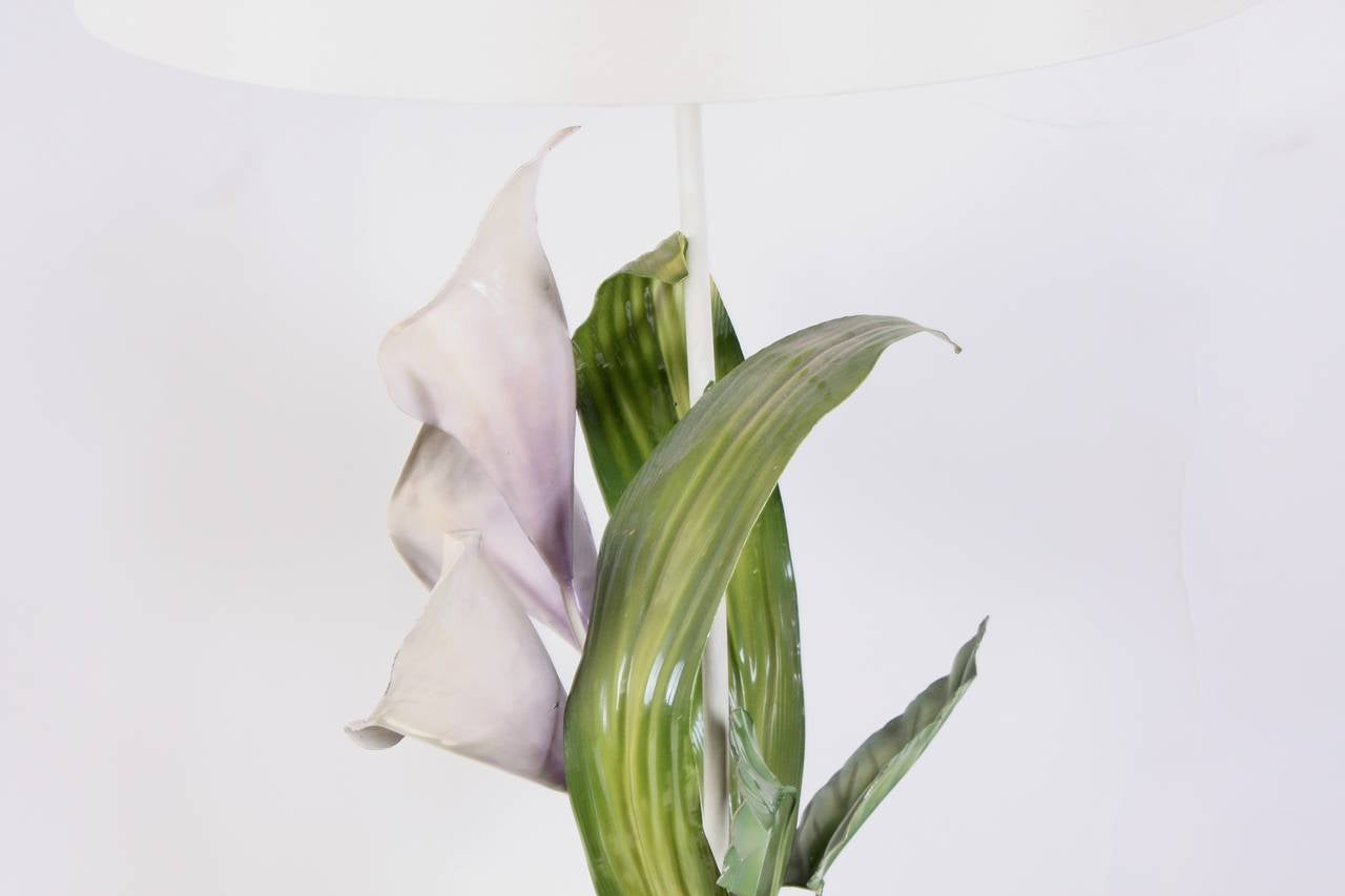 Flower Lamp Imitation Of Lilies 20th Century For Sale At 1stdibs