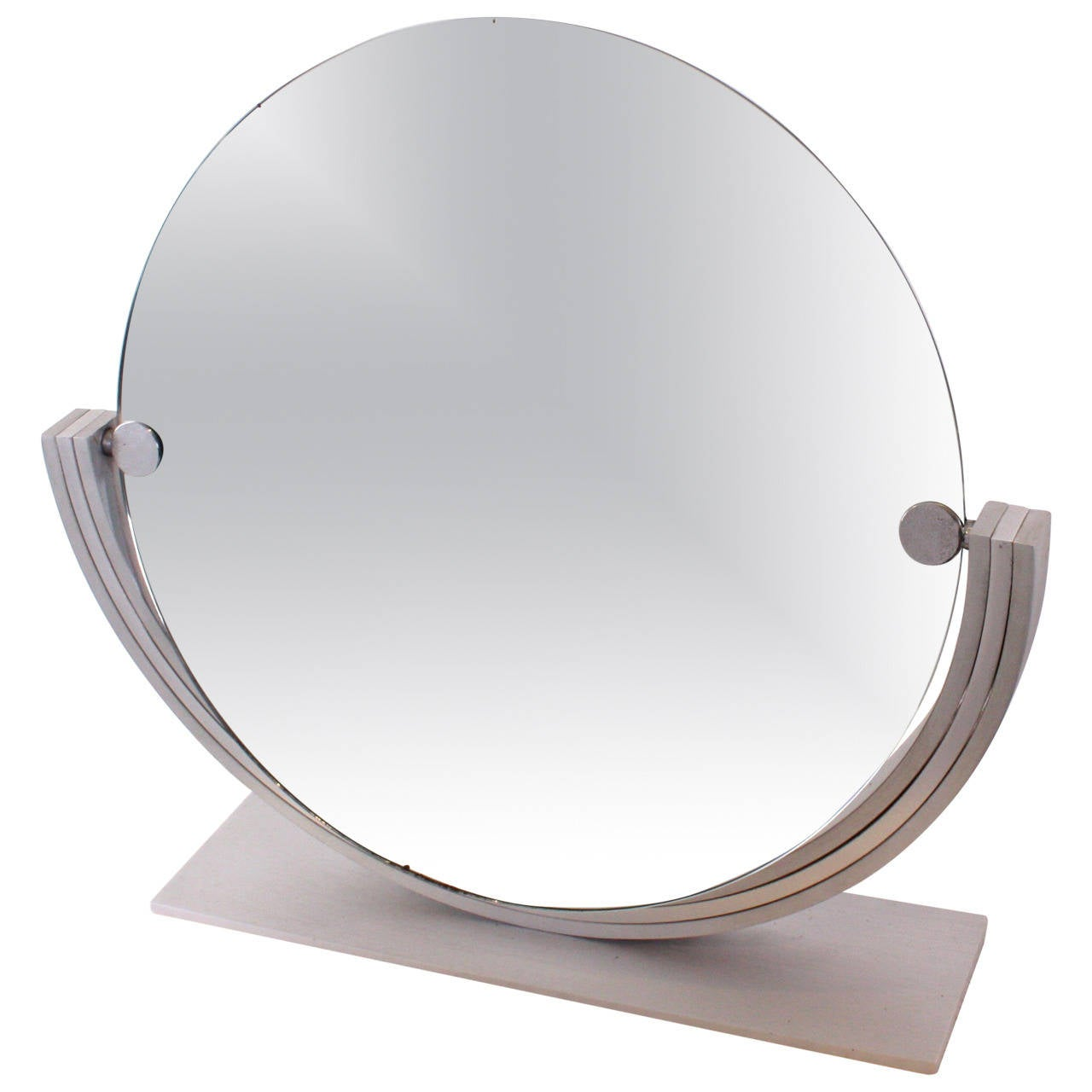 Table Mirror in Silvered Metal, 1970s