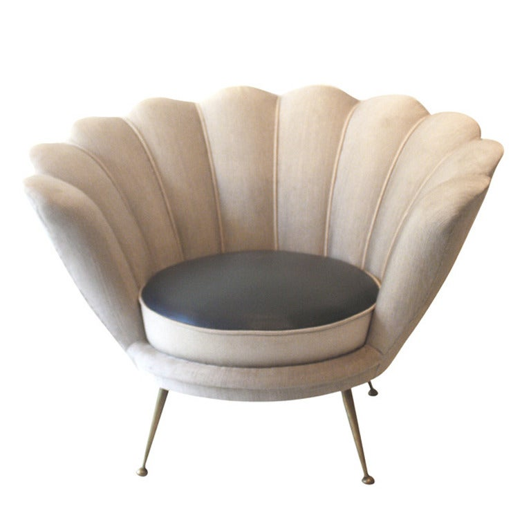Italian elegant single armchair at 1stdibs for Single armchairs