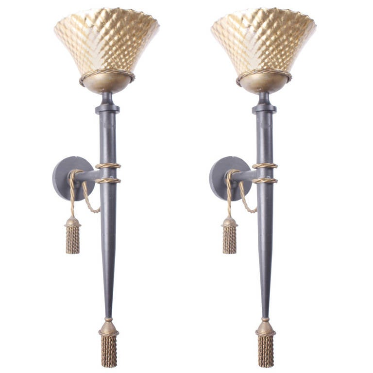 Large Wall Sconces Lighting : Pair of Large Wall Lights at 1stdibs