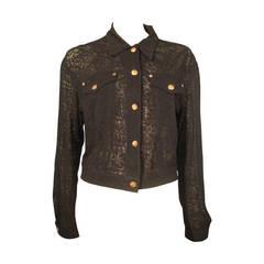 "Gaultier Junior ""Jean Jacket"" Style in Sheer Girdle Fabric"