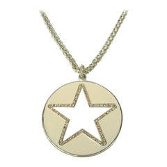 Be a STAR Enameled Crystal Necklace