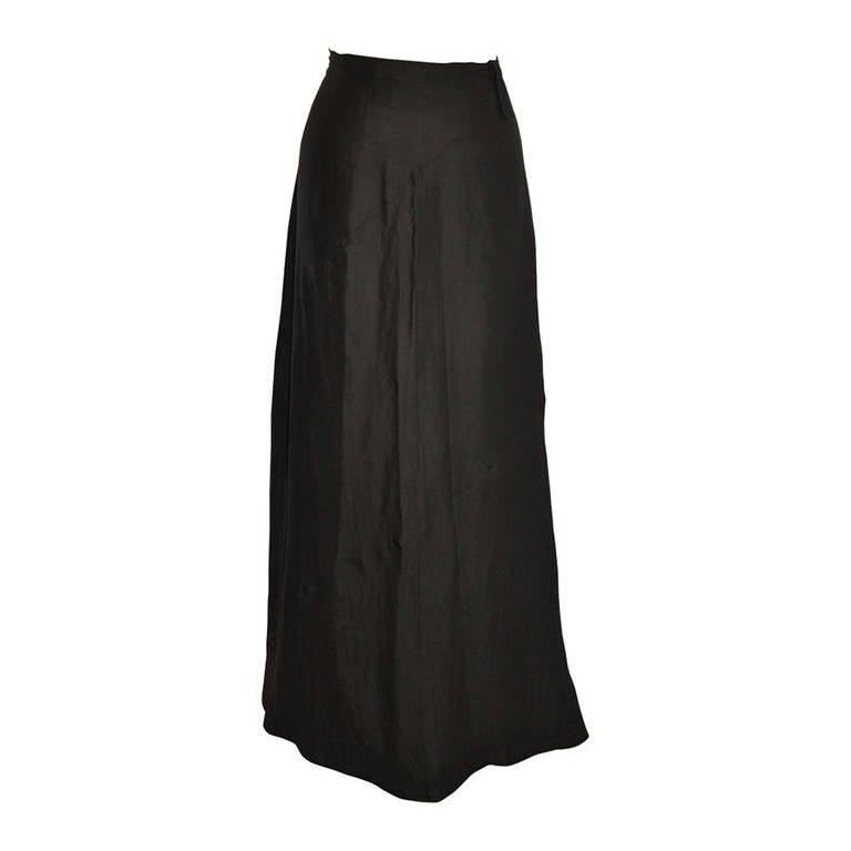 Yoshi Yamamoto Asymmetric Maxi Skirt