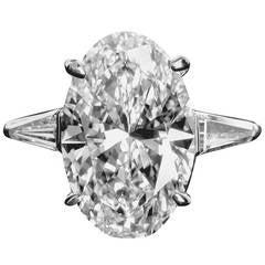5.65 Carat E/VVS2 Oval Diamond Engagement Ring