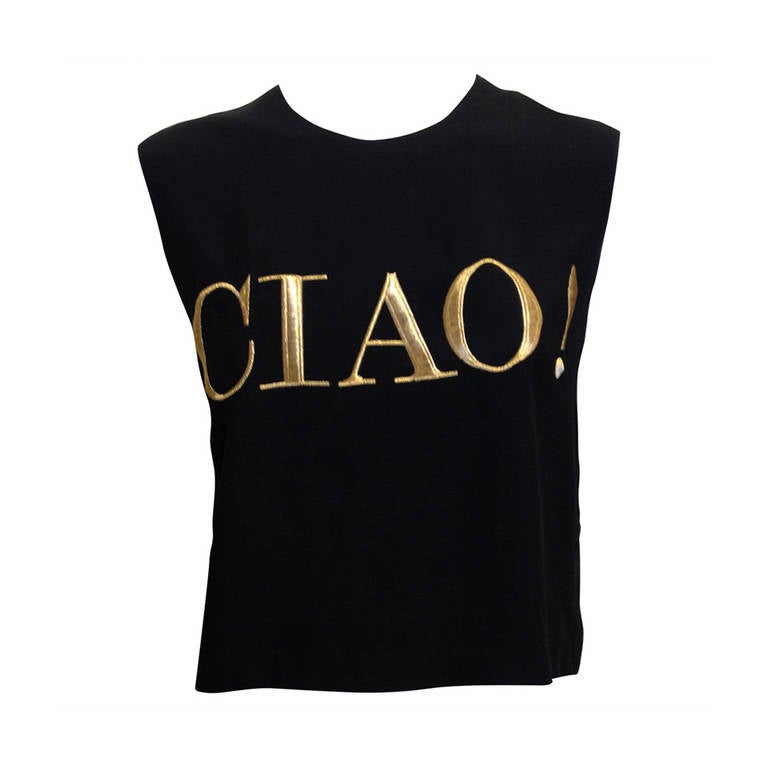 Moschino Black and Gold Ciao! Top 1