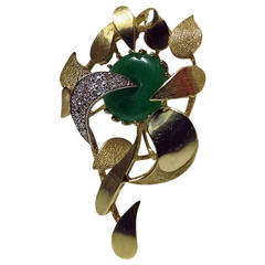 Jade Diamond Gold Flower