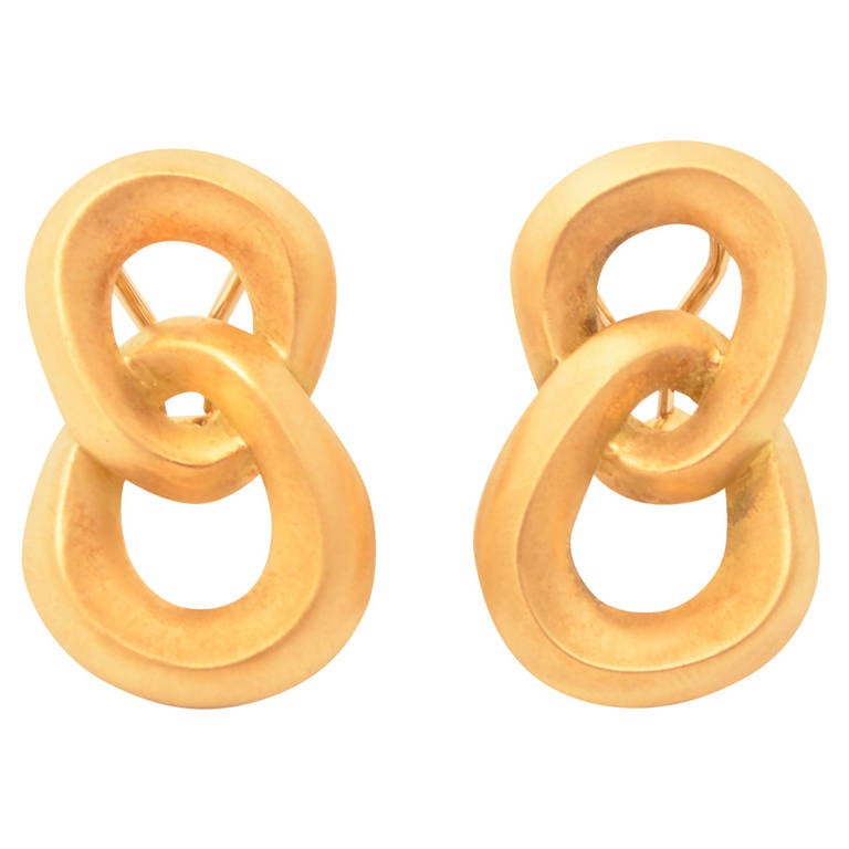 Angela Cummings Double Loop Gold Earrings
