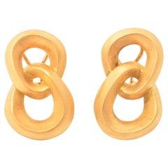 Angela Cummings Double Loop Gold Earrings