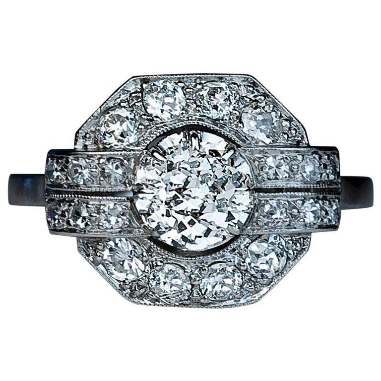 deco platinum ring 1920s at 1stdibs