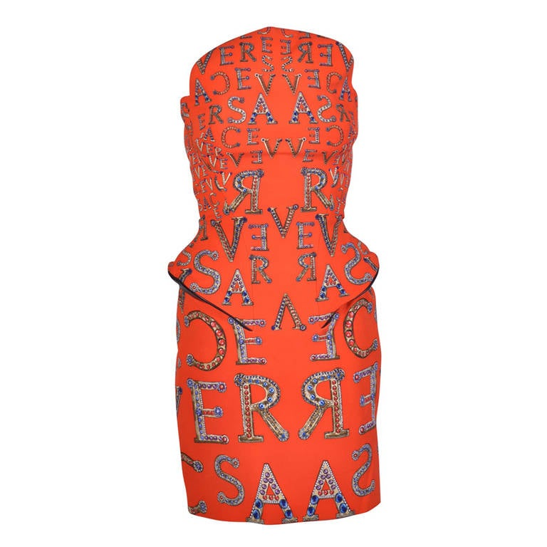 VERSACE Structured Cocktail Dress