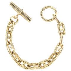 Hermes Gold Braided Link Bracelet