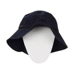 Chanel Dark Denim Floppy Beach Hat sz 57